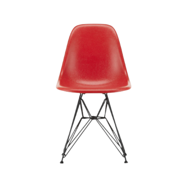 Eames DSR side chair i glasfiber, wirestel