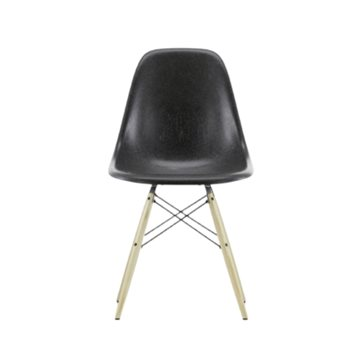 Eames DSW side chair i glasfiber, træstel