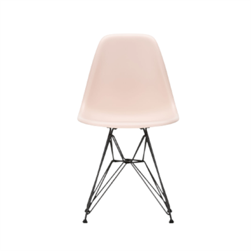 Eames DSR side chair i plastik, wirestel