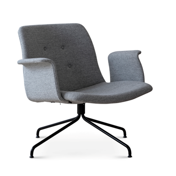 Lounge Chair med drejestel og armlæn model primum fra Bent Hansen