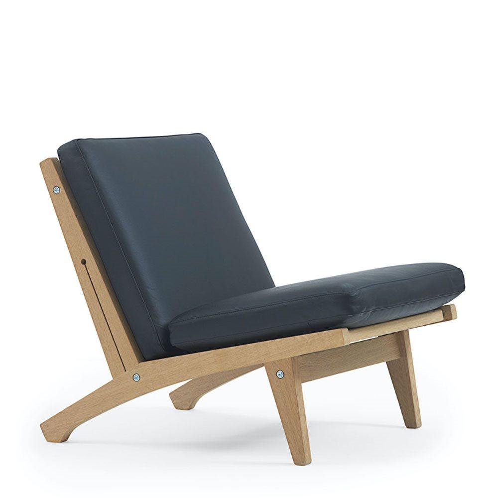 GE370 lænestol af Hans J. Wegner, lav stol